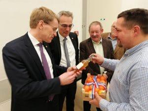Besuch des OV Bosau bei D.Günther MP-SH, T.Brockmann MdL CDU